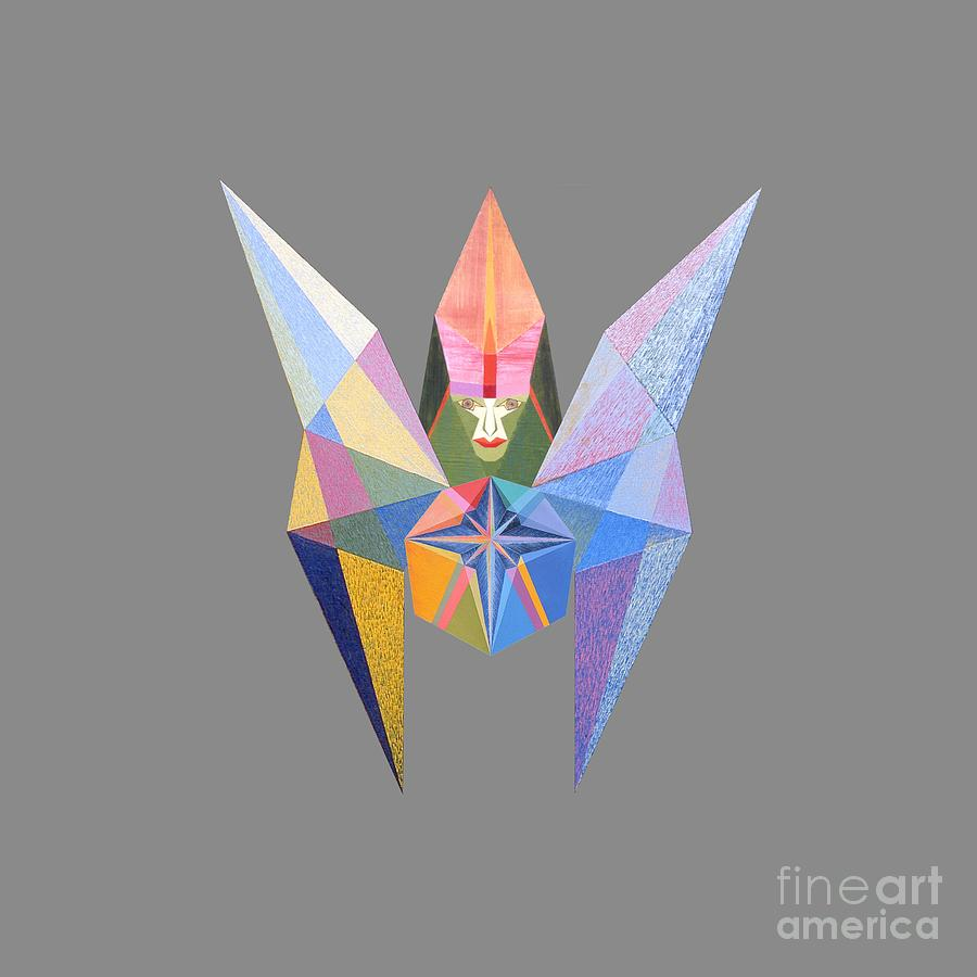 Contemporary Painting - Flying Temperance Star by Michael Bellon