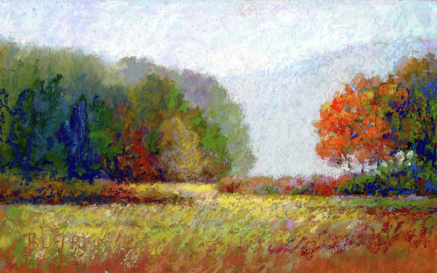 Focus, Fall Foliage Print by Betsy Derrick