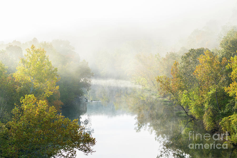 America Photograph - Fog At Big Piney River by Jennifer White