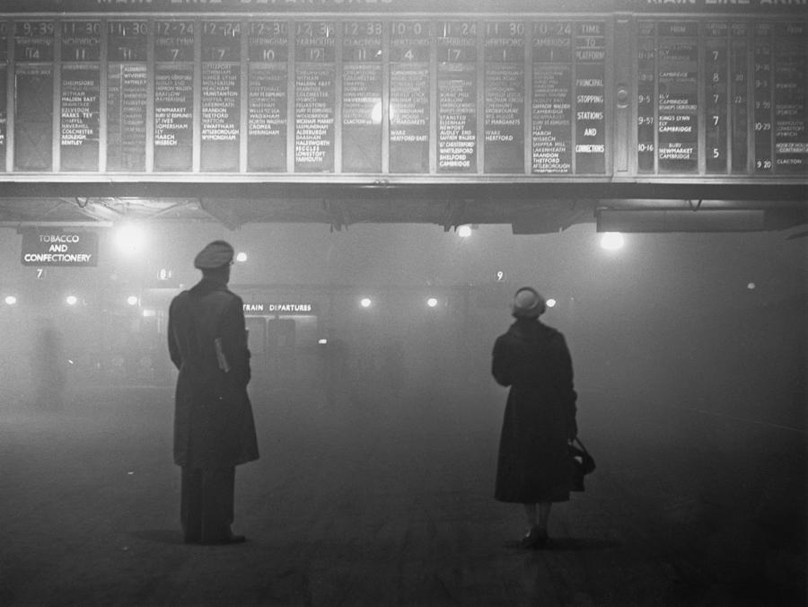 Fog At Liverpool Street Photograph by Edward Miller