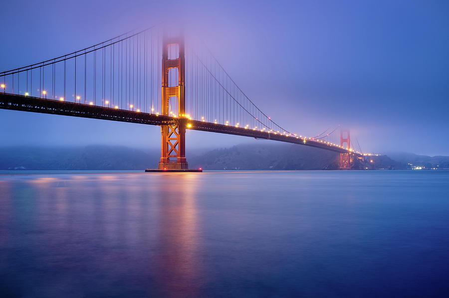 Fog City Bridge Photograph by Jonathan Fleming