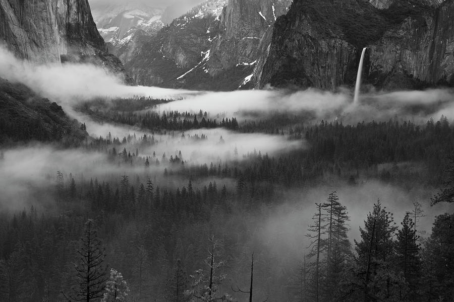 Landscape Photograph - Fog Floating In Yosemite Valley by Hong Zeng