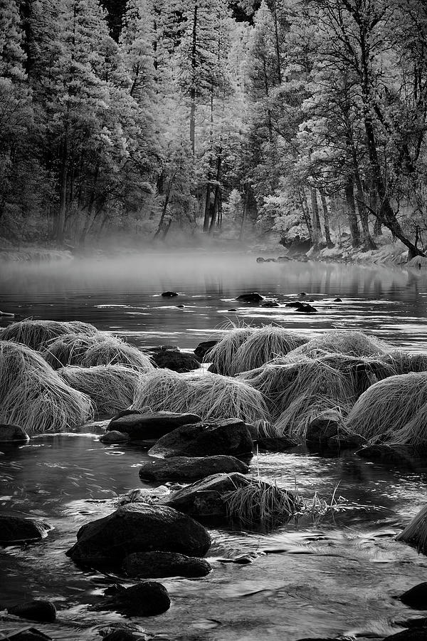 Fog on Yosemite River by Jon Glaser