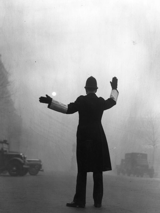 Fog Police Photograph by Hulton Archive