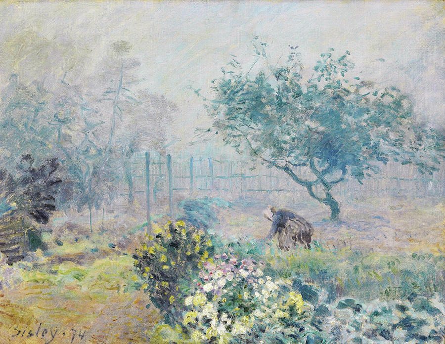 Alfred Sisley Painting - Fog, Voisins - Digital Remastered Edition by Alfred Sisley