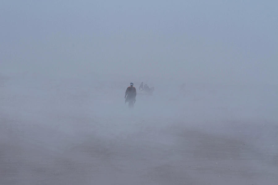 Fog Photograph - Fog Walker by Cheryl Day