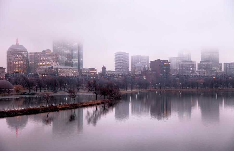 Foggy Boston Photograph by Denistangneyjr