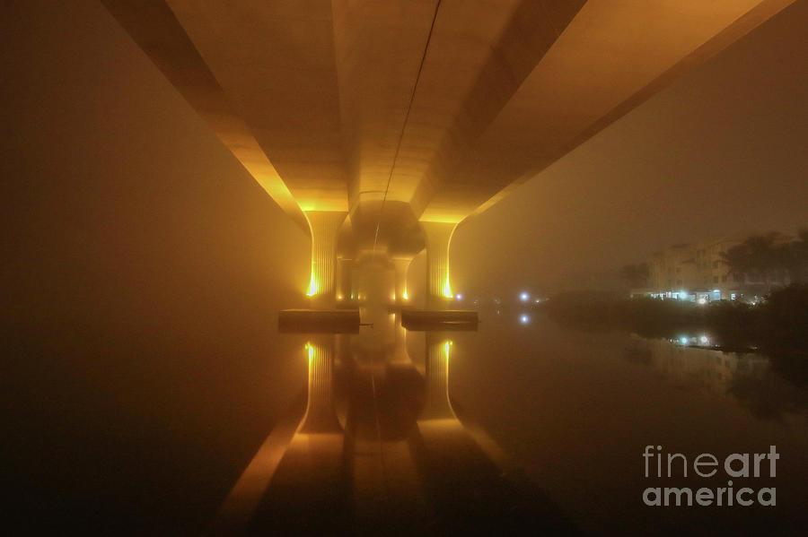 Foggy Bridge Glow by Tom Claud