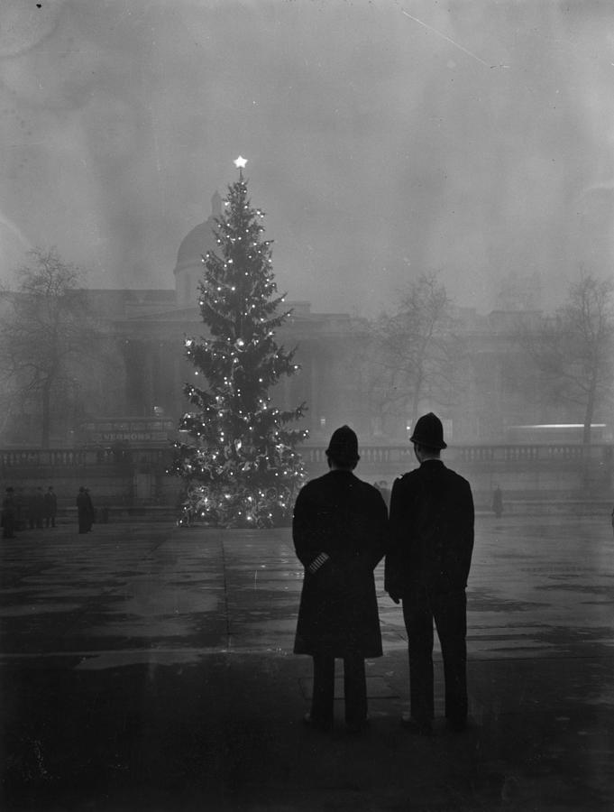 Foggy Christmas Photograph by Warburton