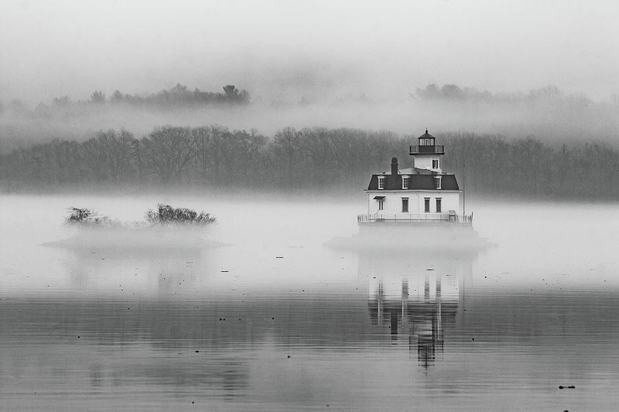 Water Photograph - Foggy December At Esopus Light by Jeff Severson