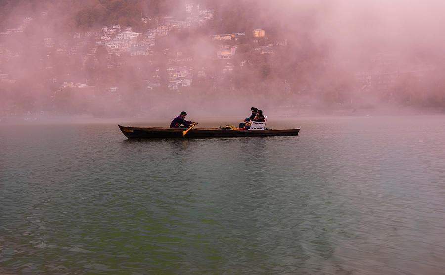 Boat Photograph - Foggy Memories  by Manjot Singh Sachdeva