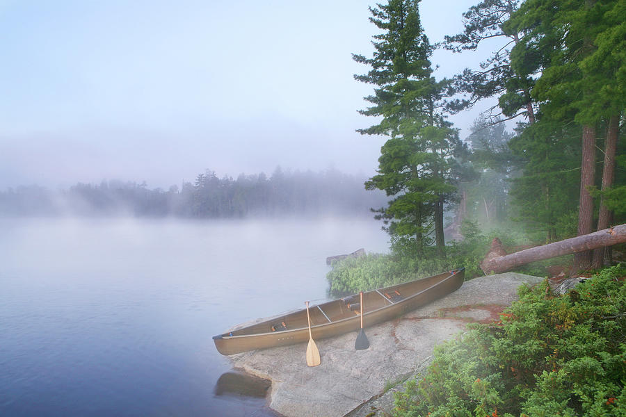 Foggy Morning In Canoe Country Photograph by Georgepeters