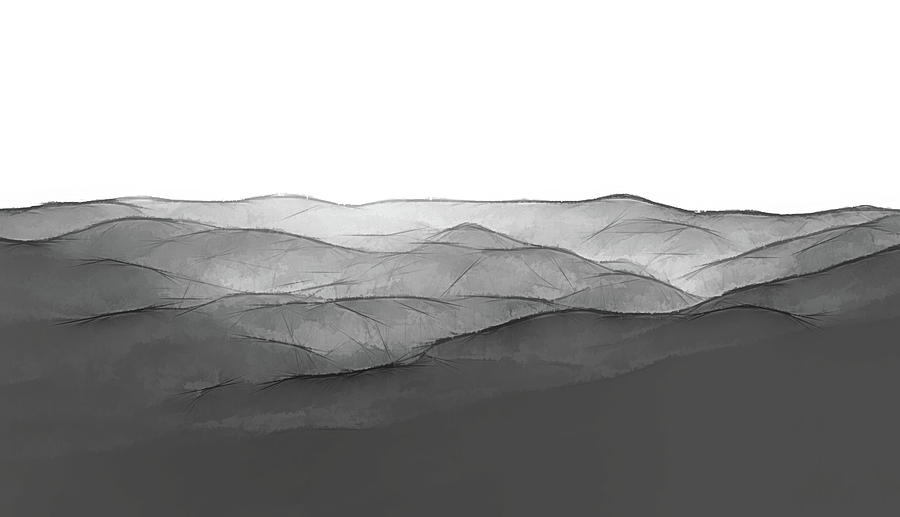 Foggy Mountains Minimalist by Andrea Anderegg