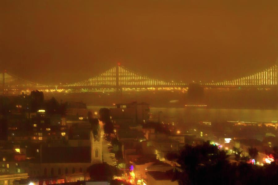 Foggy Night in San Francisco by Bonnie Follett