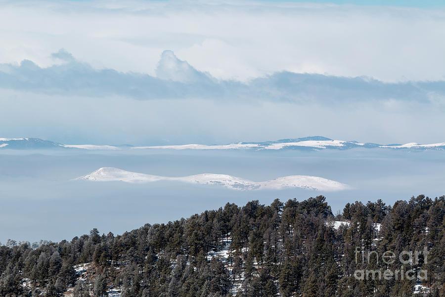 Foggy Sangre De Cristo Mountain Valley Photograph