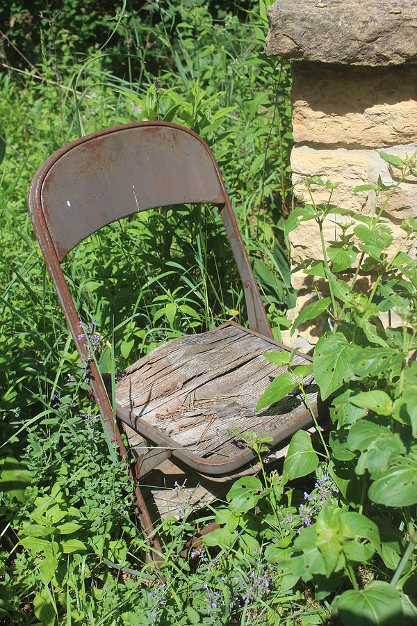 Chair Photograph - Folding Chair by Callen Harty