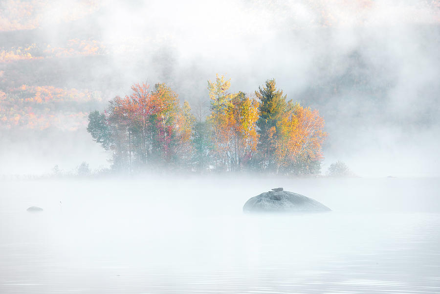 Foliage Burst at Leffert's Pond Vermont by Expressive Landscapes Nature Photography