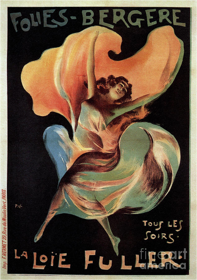 Folies Bergères, 1897. From A Private Drawing by Heritage Images