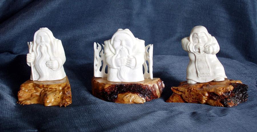 Handmade Sculpture - Folk Music. Ethnic Song. Musician Sculpture by Pop Art