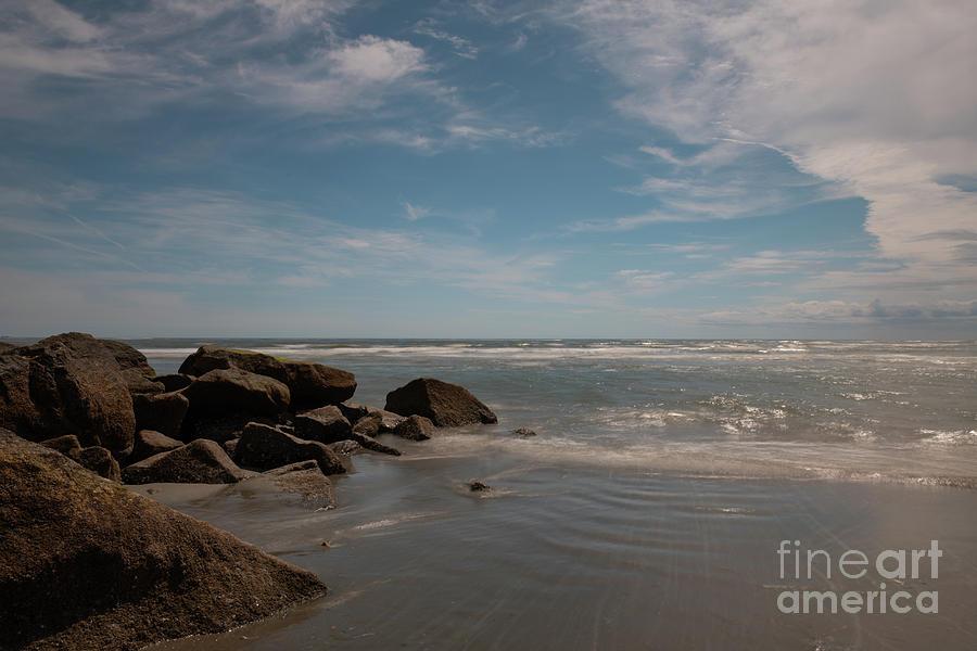 Folly Beach Rocky Shore by Dale Powell