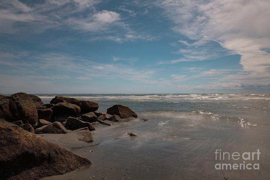Folly Beach - Silky Waters by Dale Powell