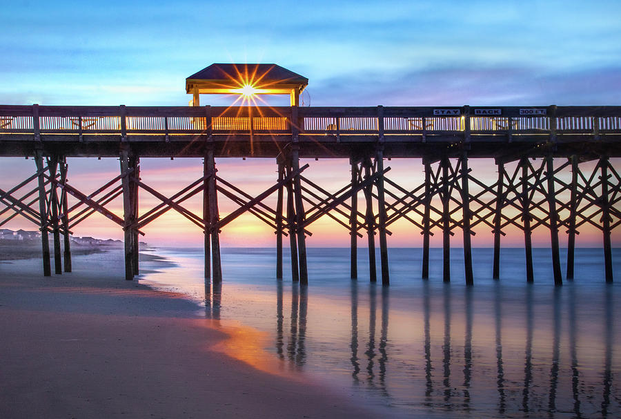 Folly Pier At Sunrise Photograph