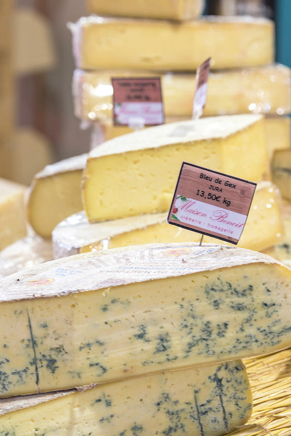 Blue Cheese Photograph - Food Cheese, Food Market, Dijon by Jim Engelbrecht