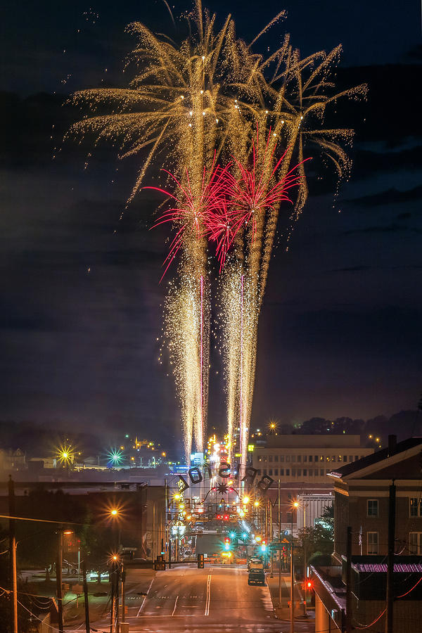 Food City Family Race Night Fireworks Over State Street by Greg Booher