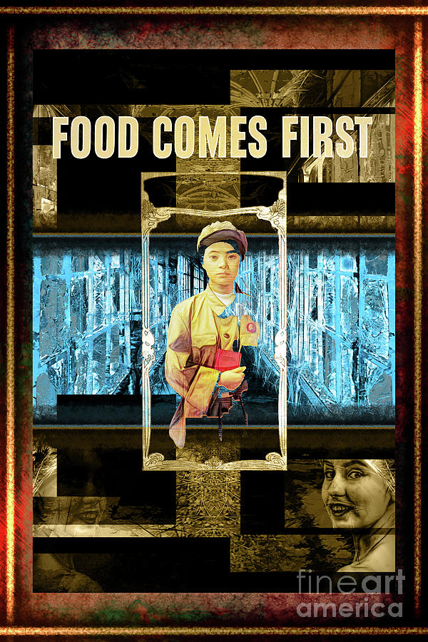 Photoshop Digital Art - Food Comes First by John Groves