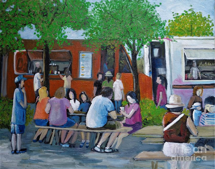 Food Truck Gathering by Reb Frost