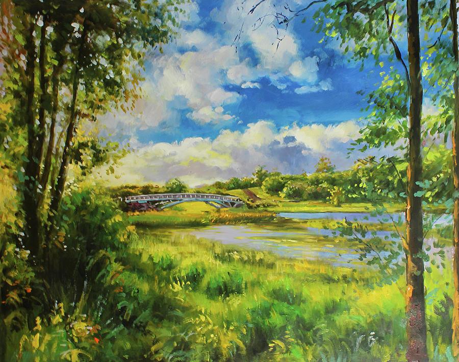 Foot Bridge, Lough lannagh, Castlebar, Co. Mayo by Conor McGuire