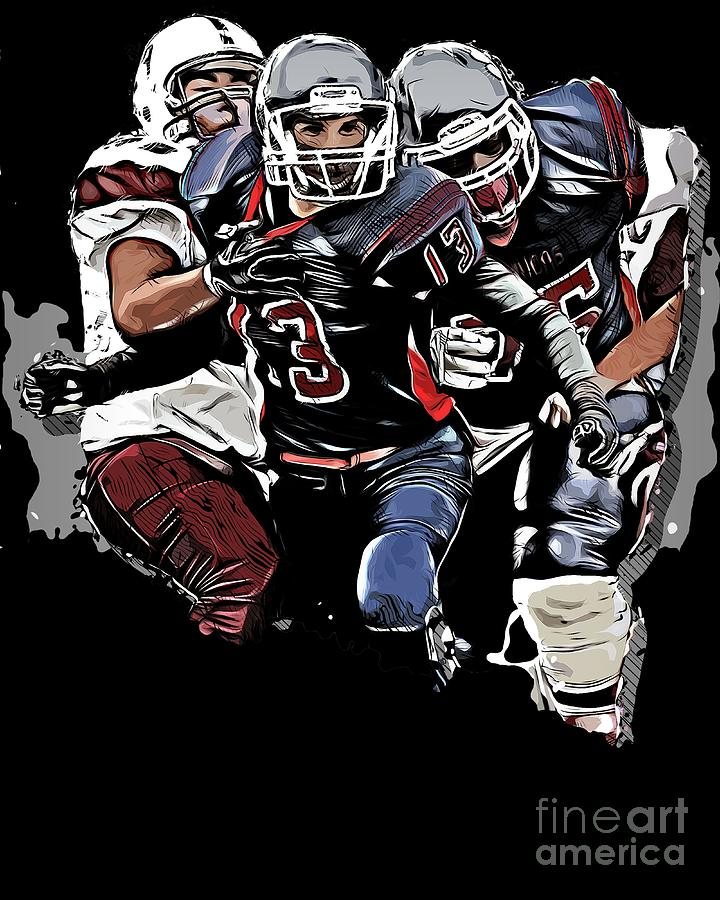 Football Fantasy Game Clipart Graphic Design Sports For Men Digital Art By Melissa Adolph