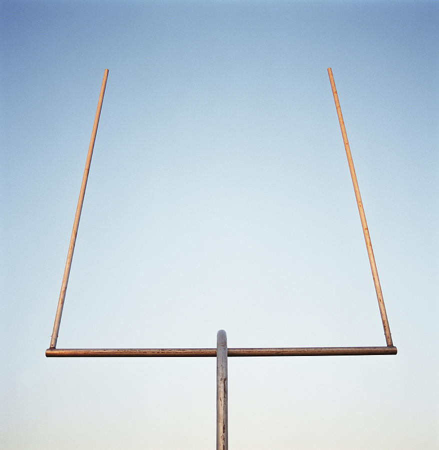 Football Goal Post Photograph by Mike Powell