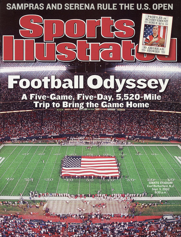Football Odyssey A Five-game, Five-day, 5,520-mile Trip To Sports Illustrated Cover Photograph by Sports Illustrated