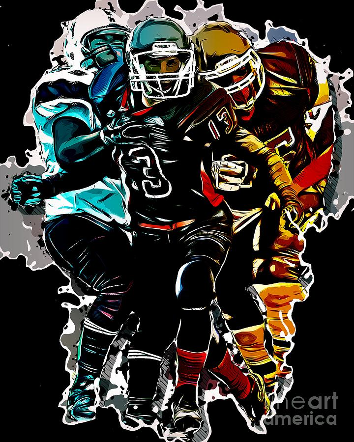 Football Sports For Men Fantasy Game Clipart Graphic Design Digital Art By Melissa Adolph