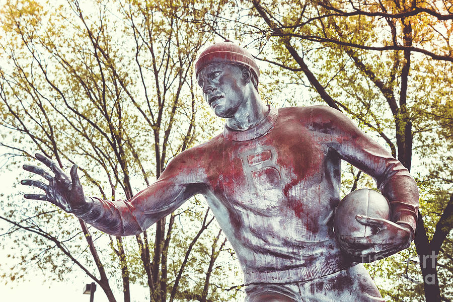 Football Statue - Rutgers University by Colleen Kammerer