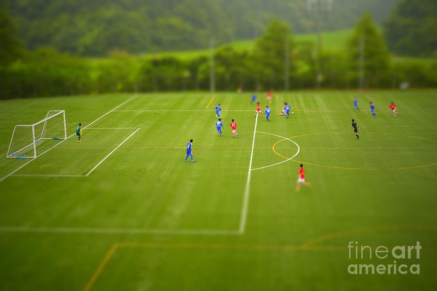 Play Photograph - Football Tilt-shift by Jppressmura