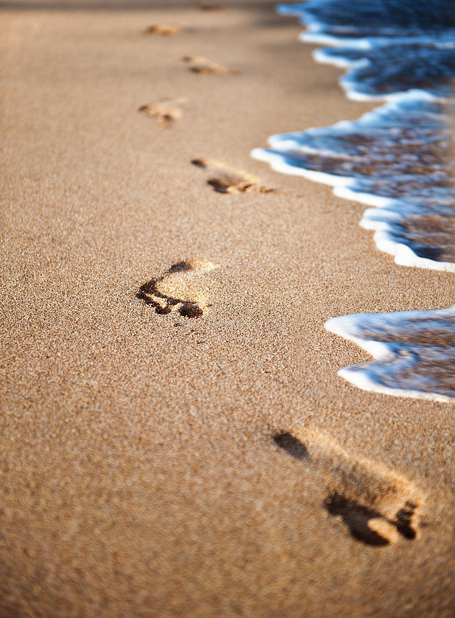 Footprints In The Sand Photograph by Rontech2000
