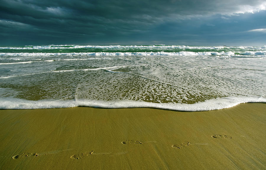 Footsteps And Storm Light Photograph by Jill Ferry