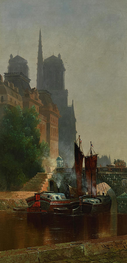 Edwin Deakin Painting - For Notre Dame, Foggy Morning by Edwin Deakin