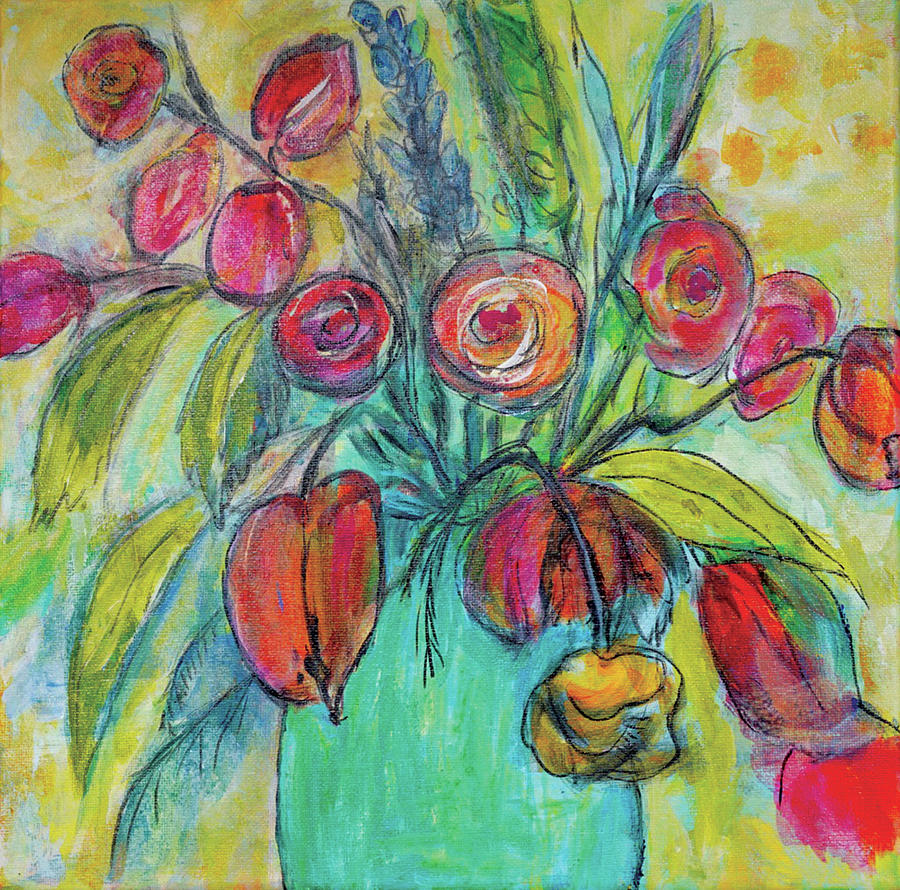 Acrylic Mixed Media - For The Love Of Spring by Christine Chin-Fook