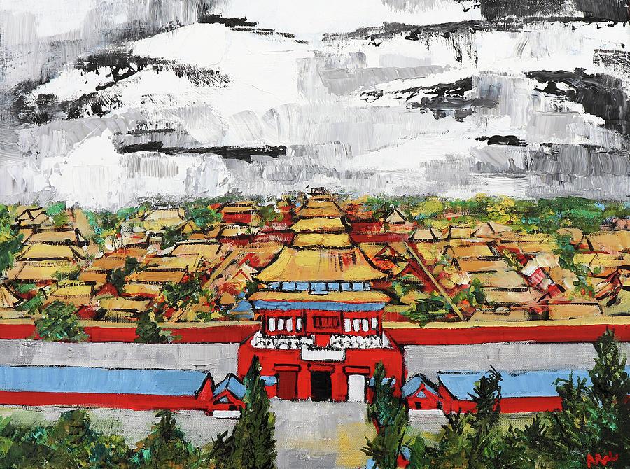 Forbidden City Painting - Forbidden City 2 201909 by Alyse Radenovic