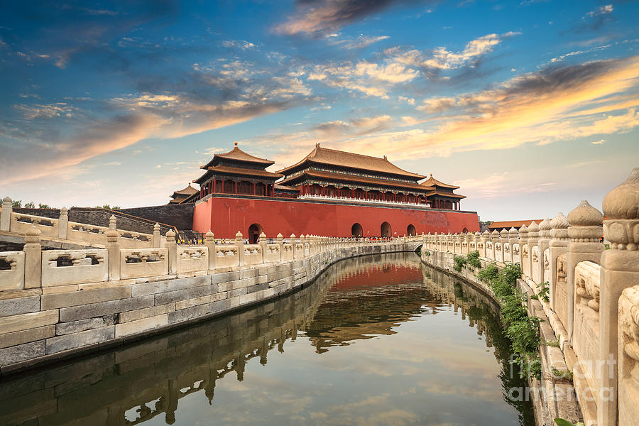 Capital Photograph - Forbidden City In Beijing,china by Chuyuss