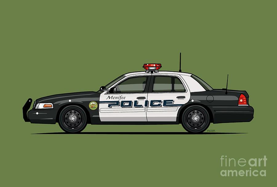 Ford Crown Victoria Police Interceptor Menifee Police Department by Monkey Crisis On Mars