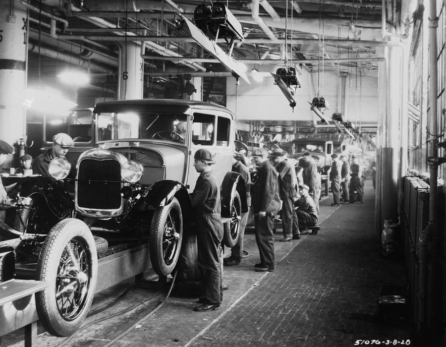 Ford Factory Photograph by Hulton Archive