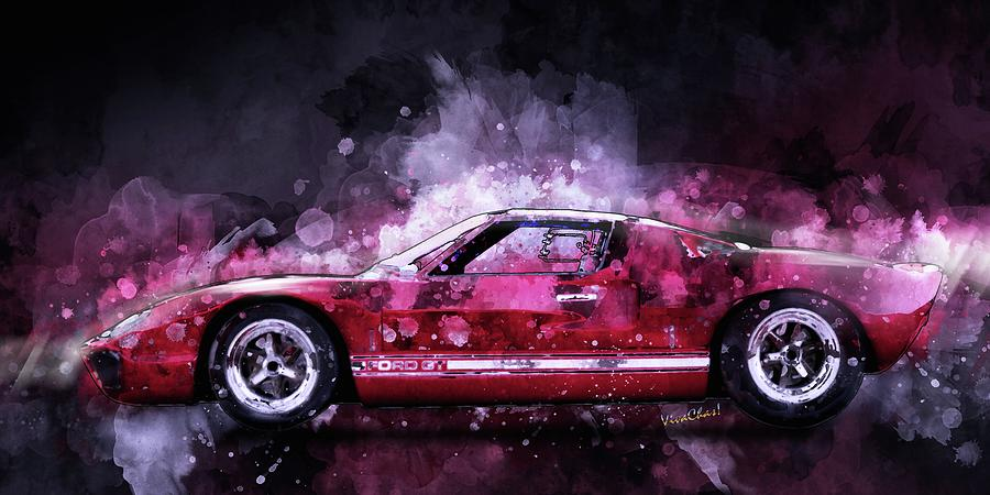 Ford GT 40 Night Moves by Chas Sinklier