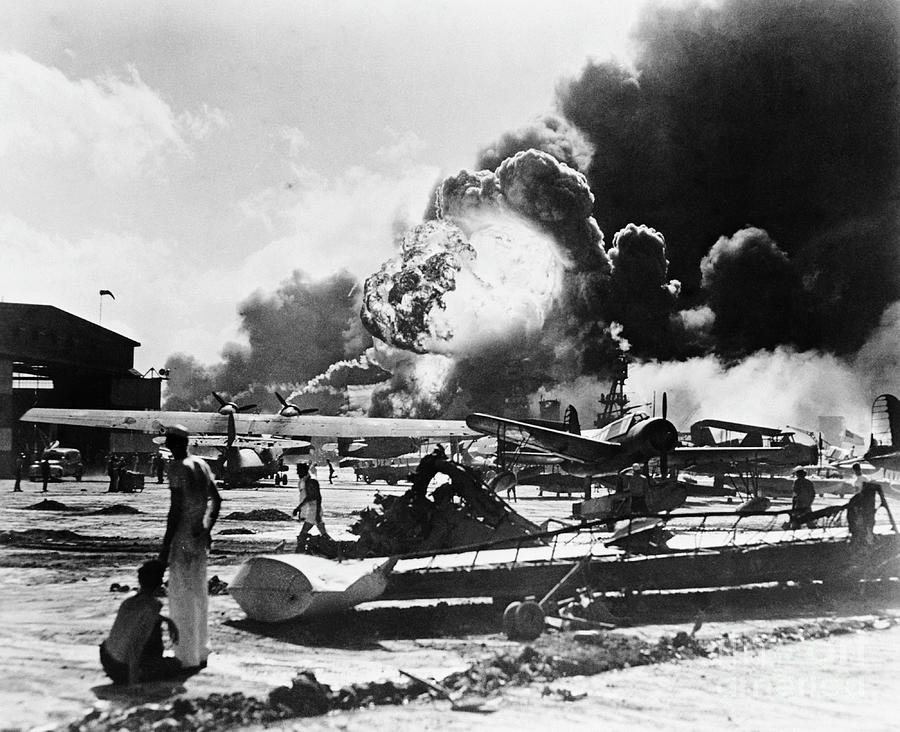 Ford Island Naval Air Station Photograph by Bettmann