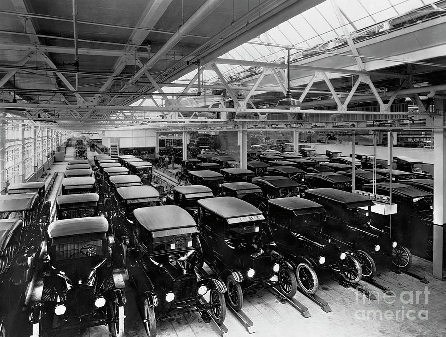 Ford Model Ts Ready For Delivery Photograph by Bettmann