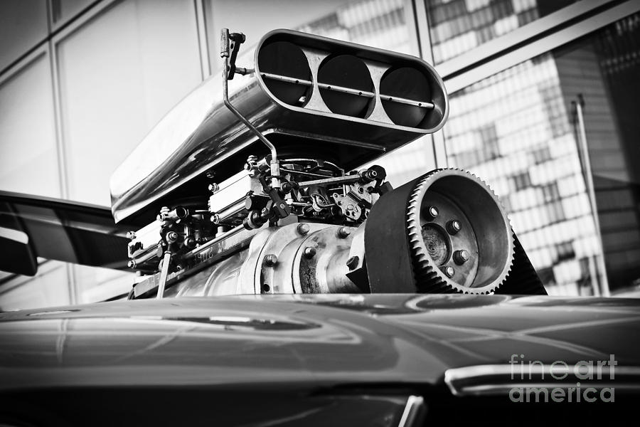Ford Mustang Vintage Motor Engine by Jesse Watrous