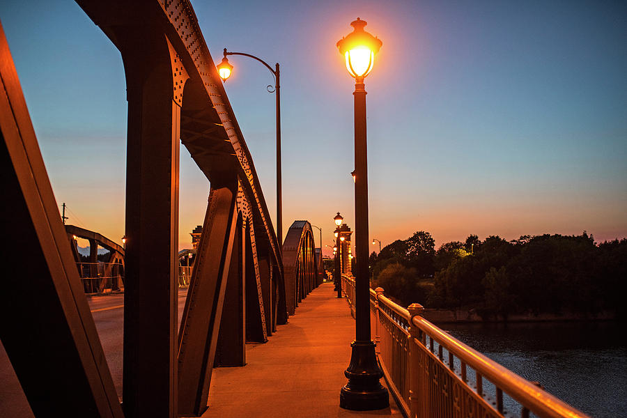 Ford Street Bridge at Dusk Rochester NY Pathway by Toby McGuire